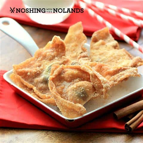 Chocolate Stuffed Wontons by Noshing With The Nolands