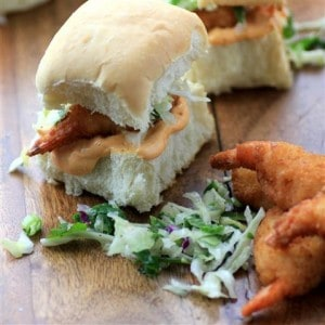 Coleslaw Smoky Mayo Jumbo Shrimp Sliders