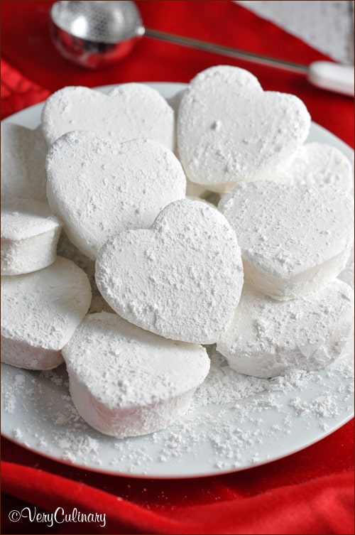 Homemade Heart Marshmallows by Very Culinary