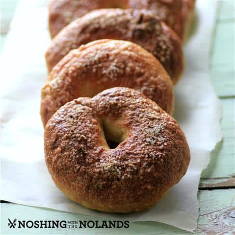 Homemade Truffle Salt Bagels by Noshing With The Nolands