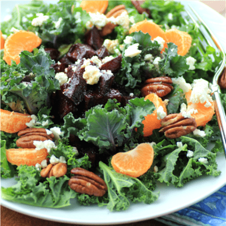 Kale Roasted Beet Salad with Honey Balsamic Dressing by Noshing With The Nolands (Small)