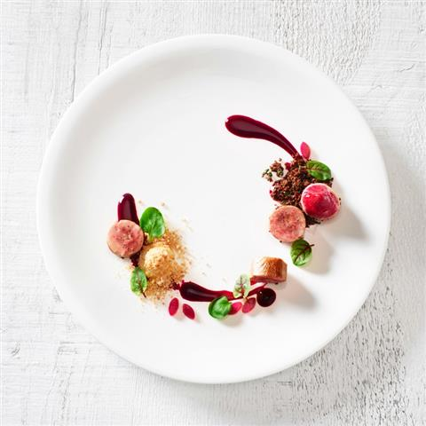 Quail Roulade With Beets And Smoked Apple For S Pellegrino
