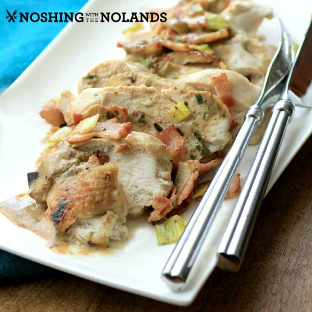 Chicken Bacon Leek Casserole by Noshing With The Nolands