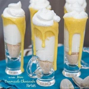 No Bake Mini Creamsicle Cheesecake Parfaits – Cupcakes and Kale Chips