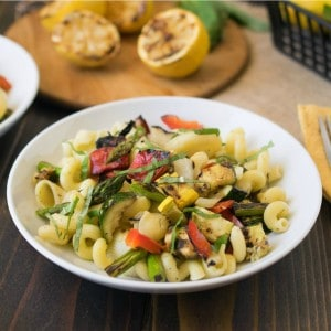 Grilled Spring Vegetable Pasta Salad – Culinary Ginger
