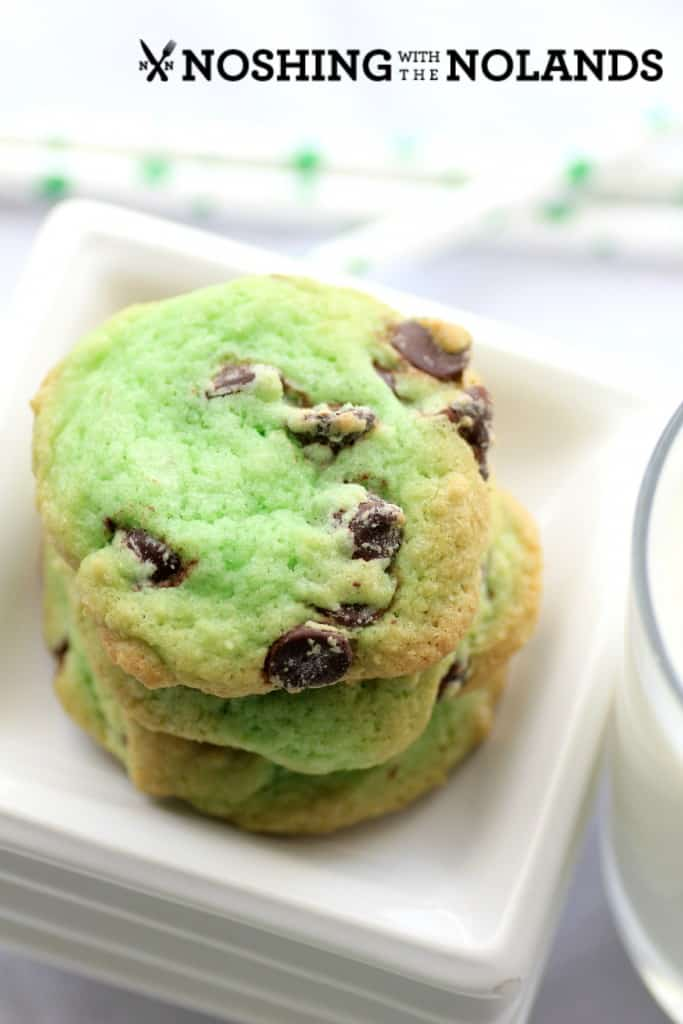 Mint Chocolate Chip Cookies by Noshing With The Nolands