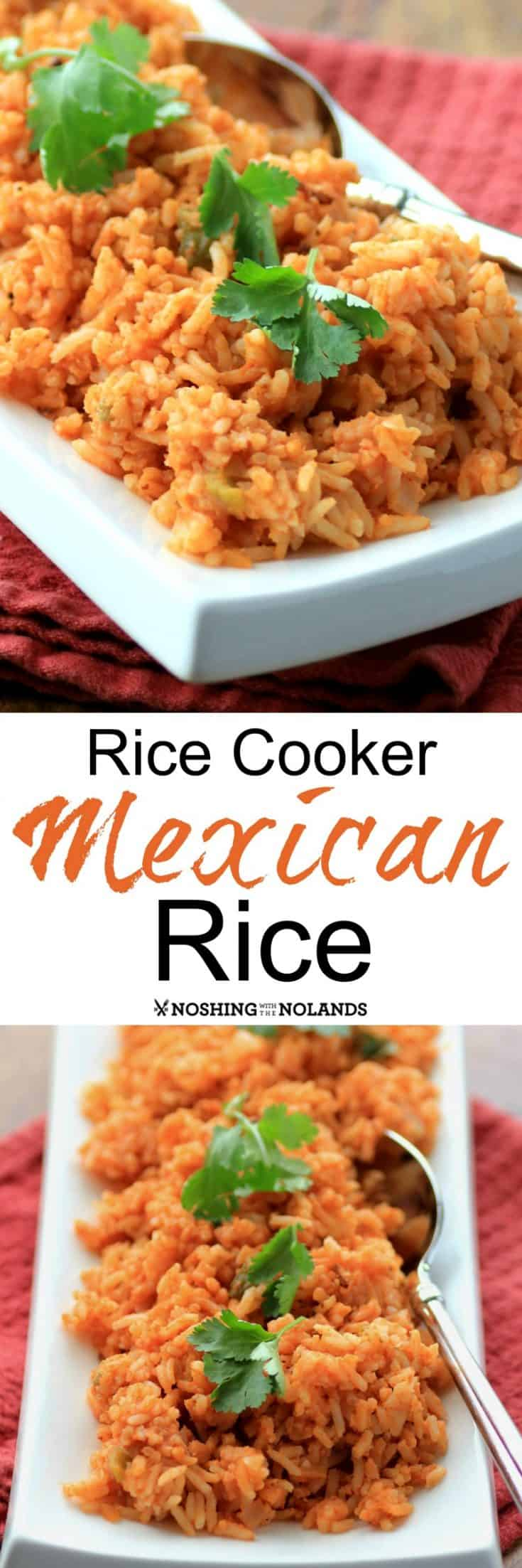 A very easy Mexican side dish that cooks up in your rice cooker. #rice #Mexican #sidedish # ricecooker