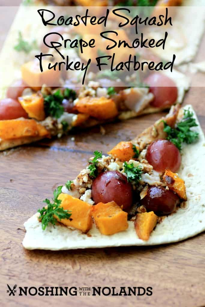 Roasted Squash Grape Smoked Turkey Flatbread by Noshing With The Nolands