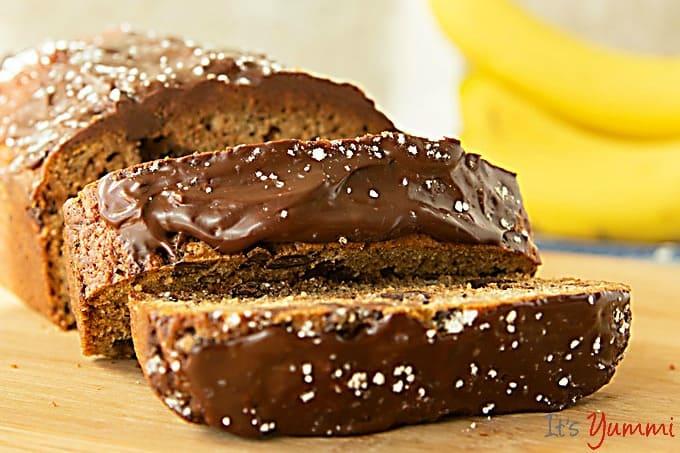 Chocolate Chip Banana Bread with Chocolate Ganache by It's Yummi