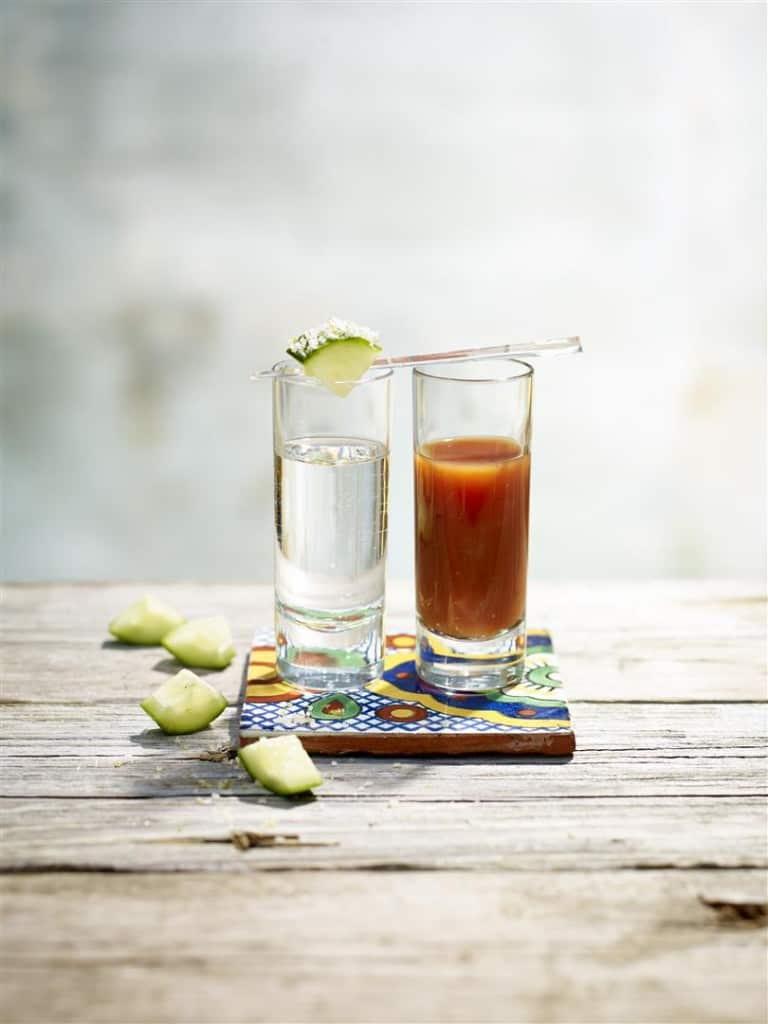 Earls Tequila Shot with Sangrita