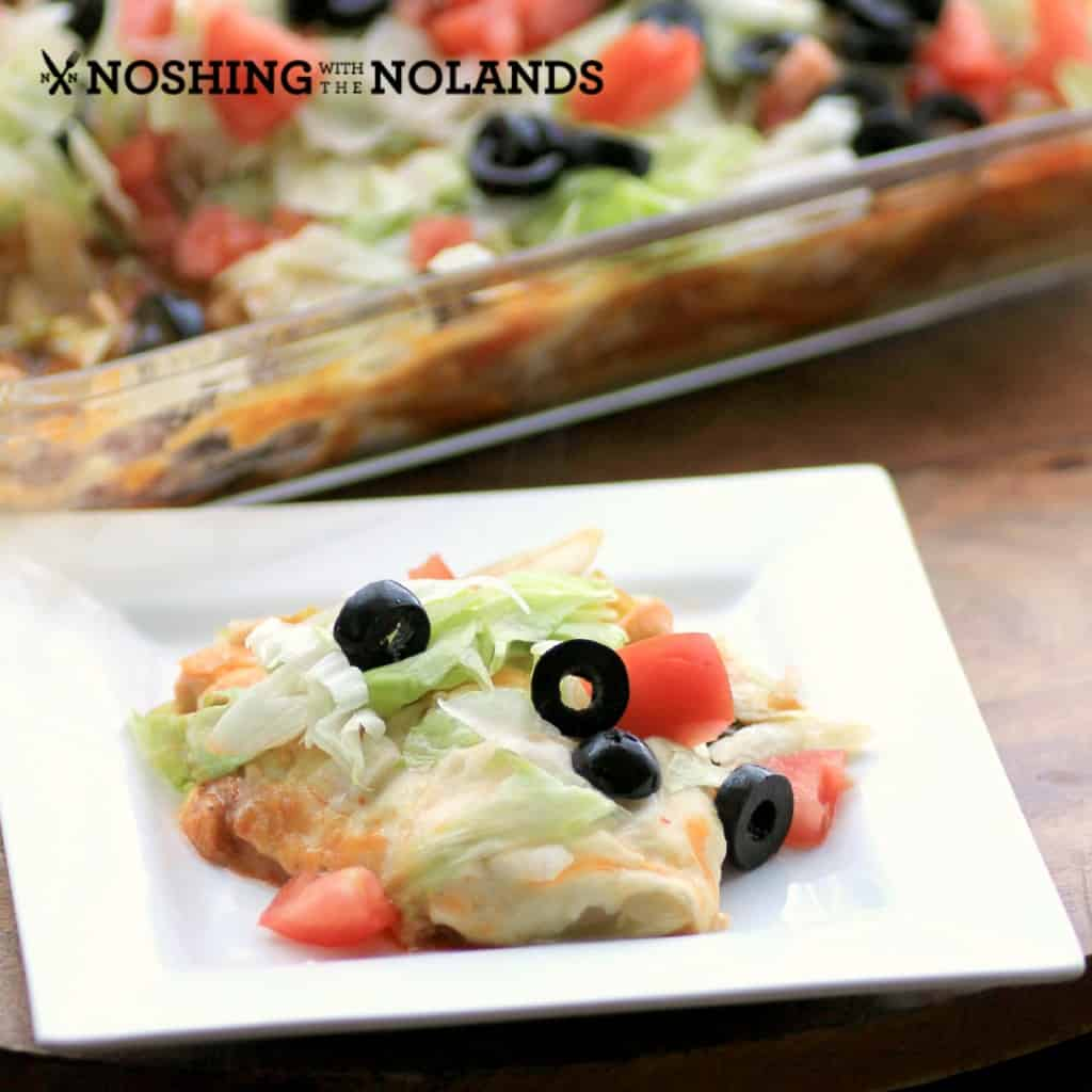 Easy Enchilada Casserole by Noshing With The Nolands