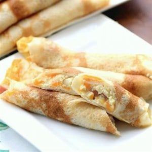 Egg, Ham and Cheese Stuffed Crepes #Giveaway