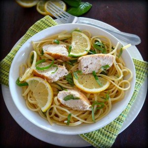 Simple Lemon Basil Pasta with Chicken – The McCallum's Shamrock Patch