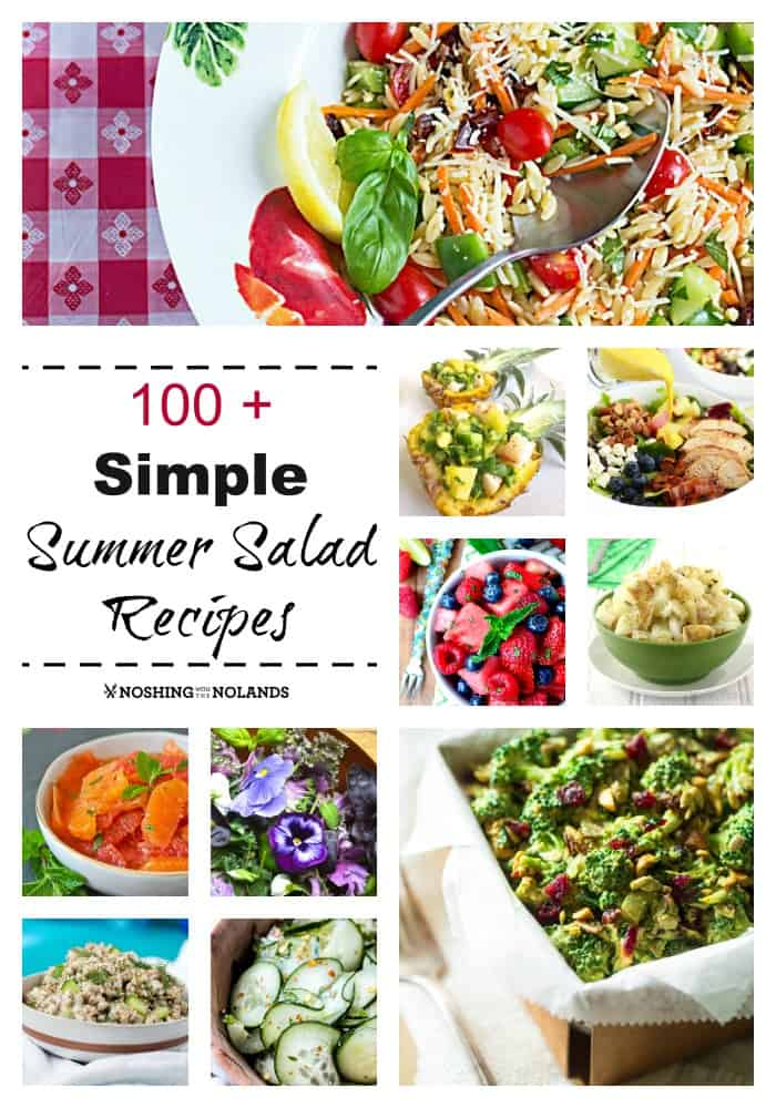 100+ Simple Summer Salad Recipes Collage