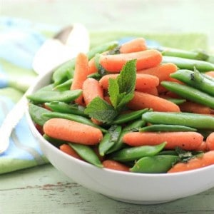 Buttery Mint Carrots and Snap Peas – Real Housemoms