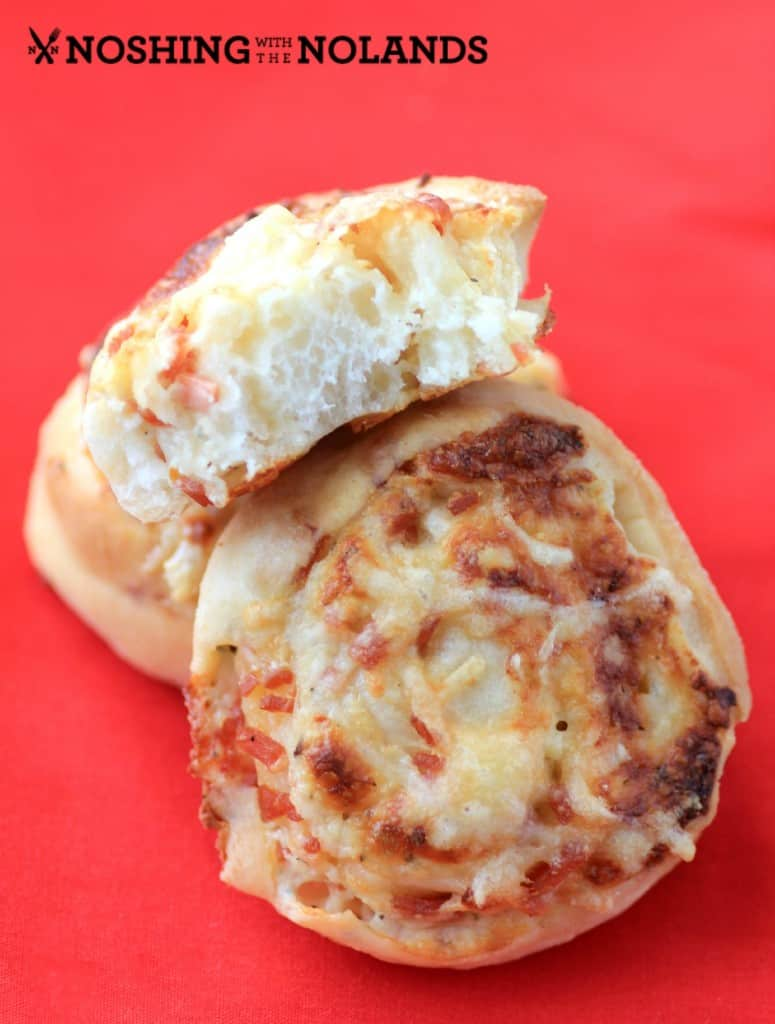 Cheesy Pizza Wheels by Noshing With The Nolands