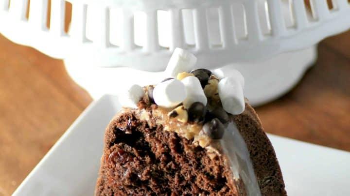 Cherry Chocolate Walnut Bundt #BundtBakers