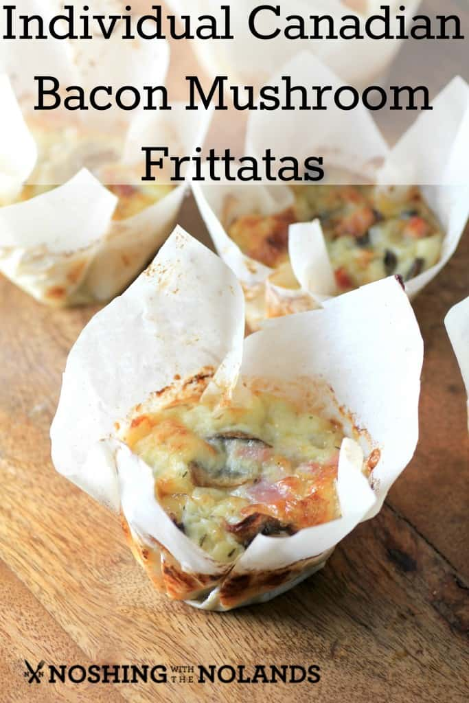 Individual Canadian Bacon Mushroom Frittatas by Noshing With The Nolands