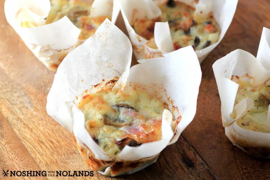Individual Canadian Ham Mushroom Frittatas by Noshing With The Nolands
