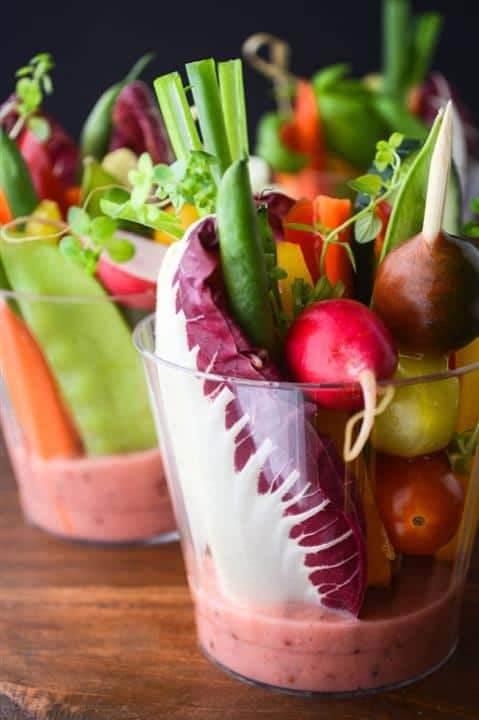 Individual Salad Cups with Rhubarb Vinaigrette by View from Great Island (Custom)