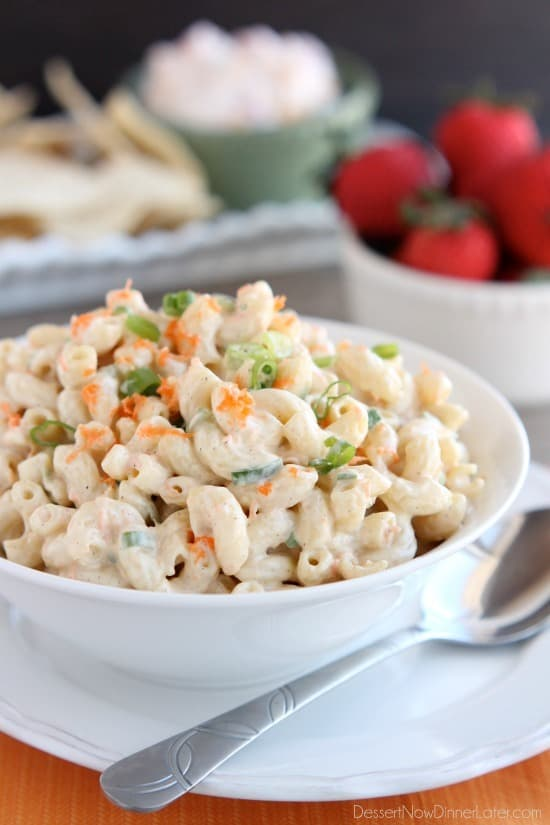 The BEST Macaroni Salad by Dessert Now, Dinner Later