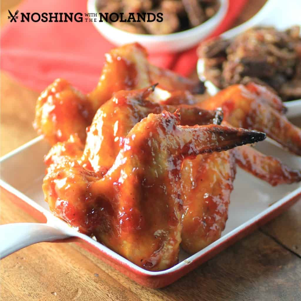 Maple Syrup Chipolte Wings by Noshing With The Nolands