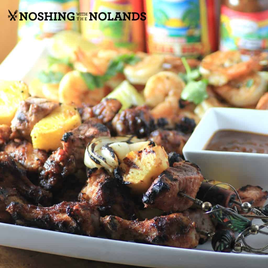 Mixed Grill with Grace Jerk Seasoning by Noshing With The Nolands