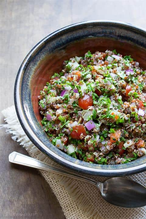 Red Quinoa Tabbouleh Salad by Taste Love and Nourish