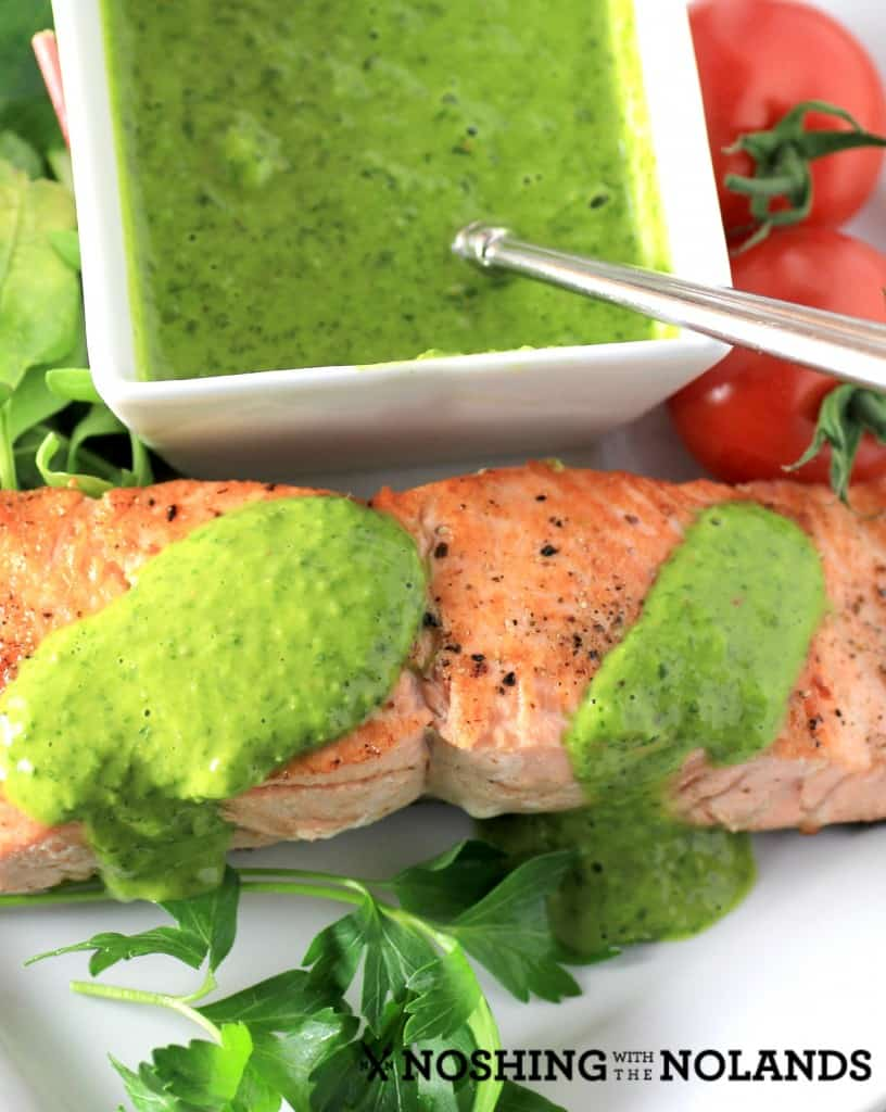 Salmon with Chimichurri by Noshing With The  Nolands