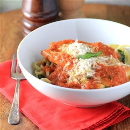 Chicken Parmesan with Basil Linguini By Noshing With The Nolands 480x480