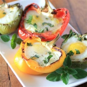 Grilled Peppers with Eggs #CanadianEggs