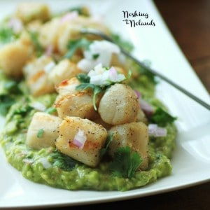 Grilled Wild Scallops with Avocado Puree by Noshing With The Nolands (4) (Small)