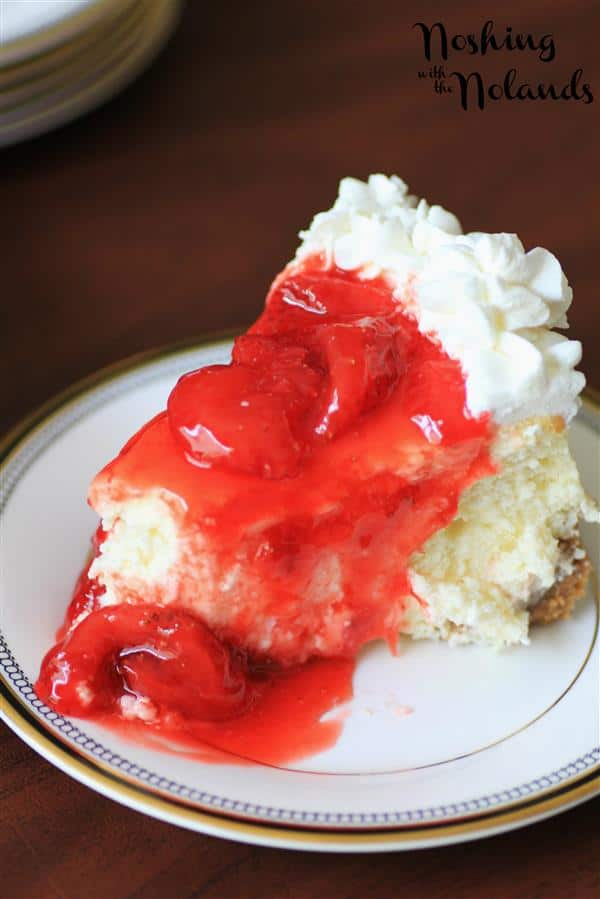 Light and Airy Strawberry Cheesecake for Canada Day by Noshing With The Nolands