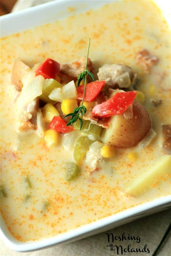 Summer Chicken Corn Chowder by Noshing With The Nolands
