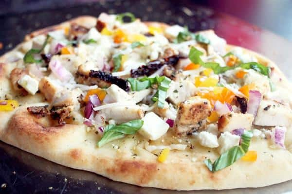Grilled Greek Chicken Pizza by Creole Contessa