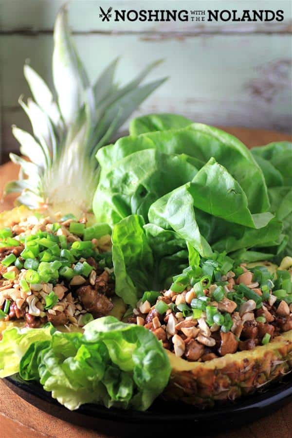 Pineapple Chicken Lettuce Wraps by Noshing with The Nolands (2) (Custom)