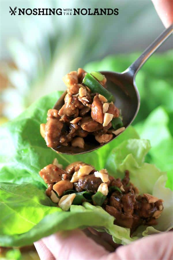 Pineapple Chicken Lettuce Wraps by Noshing with The Nolands (4) (Custom)