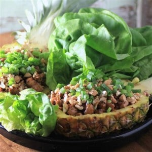 Pineapple Tamarind Chicken Lettuce Wraps #PuloCuisine