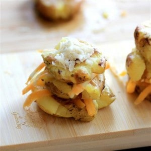 Cheesy Potato Stacks #LittlePotatoCompany