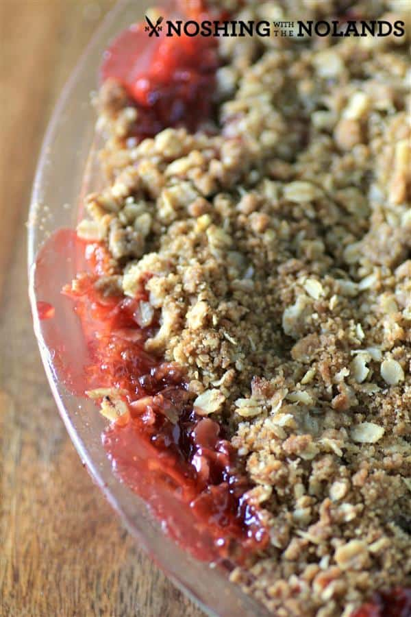 Rhubarb Strawberry Crisp by Noshing With The Nolands