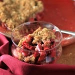 Rhubarb Strawberry Crisp by Noshing With The Nolands 480x480