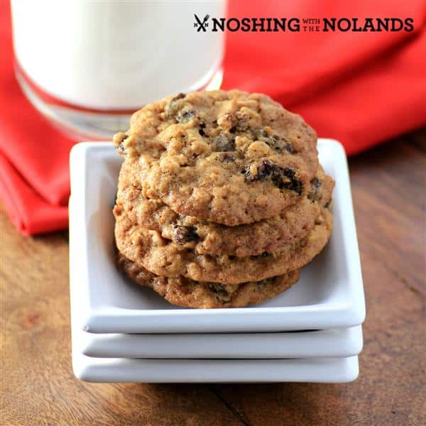 Chewy Oatmeal Raisin Cookies by Noshing With The Nolands