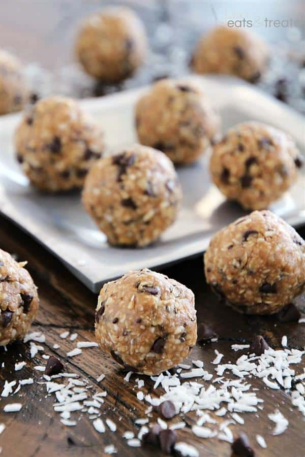 No-Bake Chocolate Chip Energy Bites from Julie's Eats and Treats