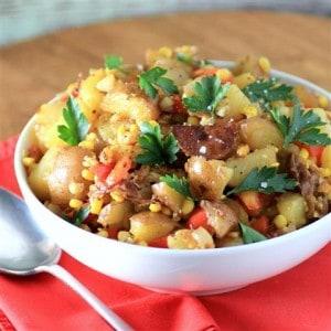 Potato and Corn Toss