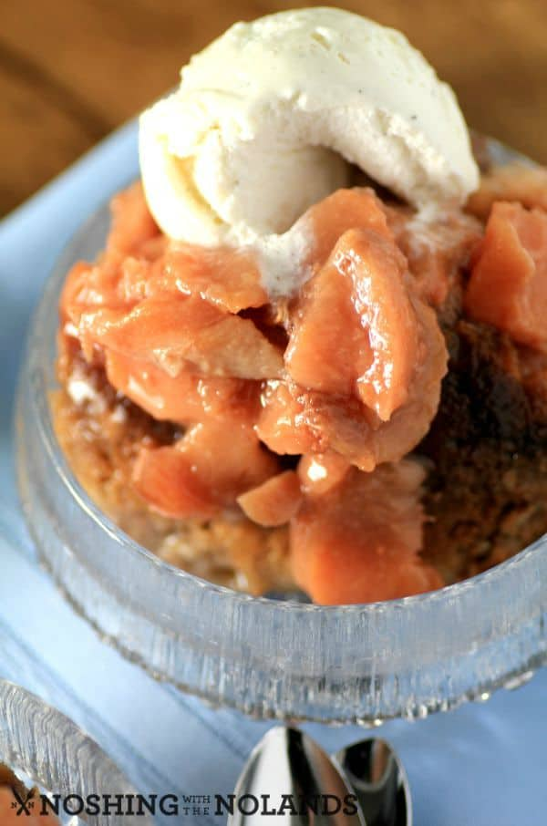 Slow Cooker Peach Cobbler by Noshing With The Nolands