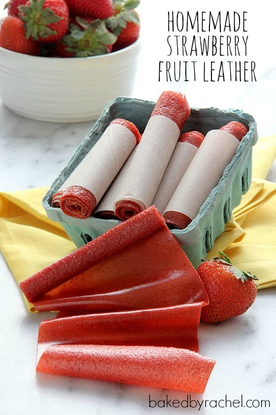 Strawberry Fruit Leather from Baked By Rachel