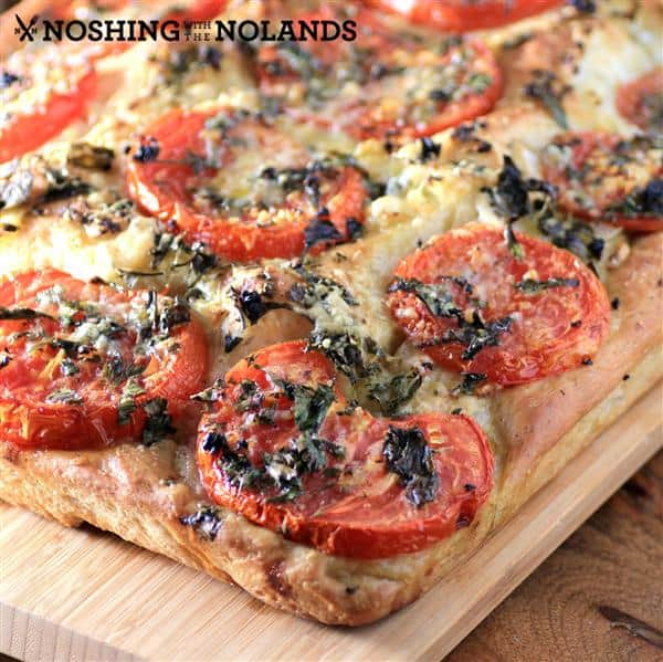 Tomato Onion Parmesan Focaccia by Noshing With The Nolands