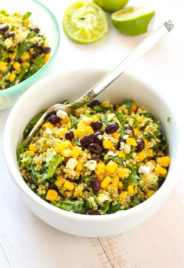 Tex Mex Quinoa Salad from Layers of Happiness