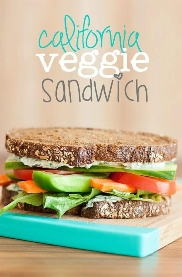 Copycat Fresh Market California Veggie Sandwich from Peas and Crayons