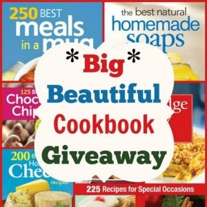Big Beautiful Cookbook #Giveaway